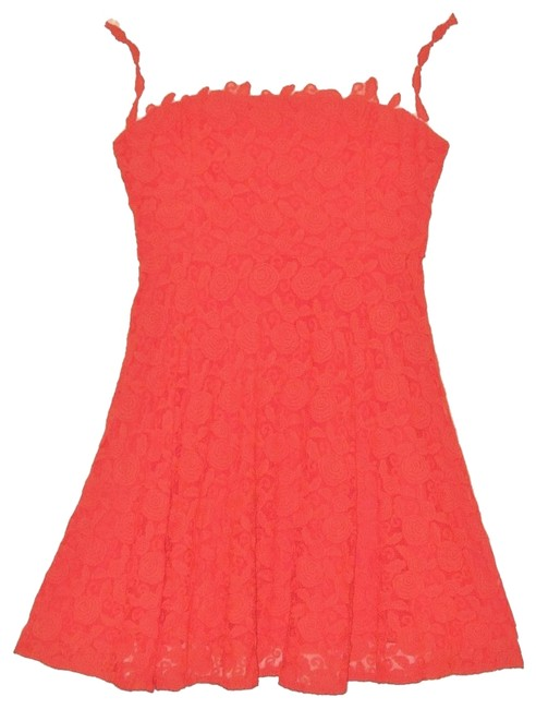 Anthropologie Lace Mirror Of Venus Fit Flare Rose Illusion Dress Image 1