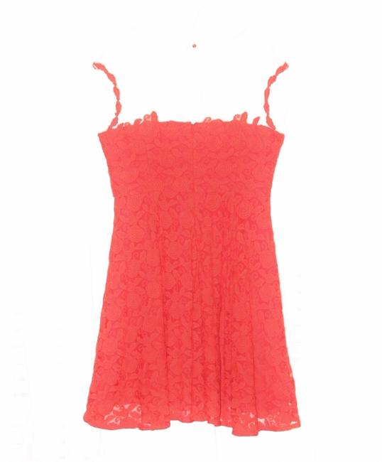 Anthropologie Lace Mirror Of Venus Fit Flare Rose Illusion Dress Image 4
