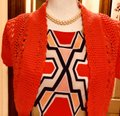 Signature by Robbie Bee Piece.coral/Multi New Shrug Belted Zip Back Dress Image 6