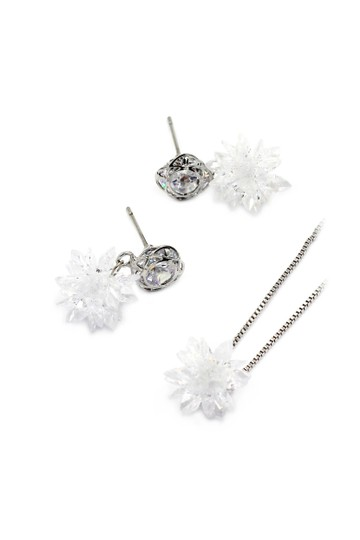 Preload https://img-static.tradesy.com/item/23707705/white-snowflake-crystal-earrings-necklace-0-0-540-540.jpg