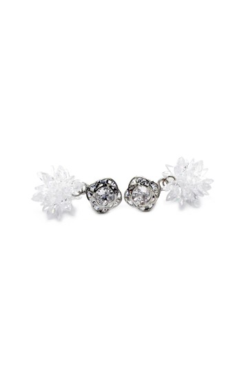 Ocean Fashion Snowflake Crystal Earrings Necklace Set Image 5
