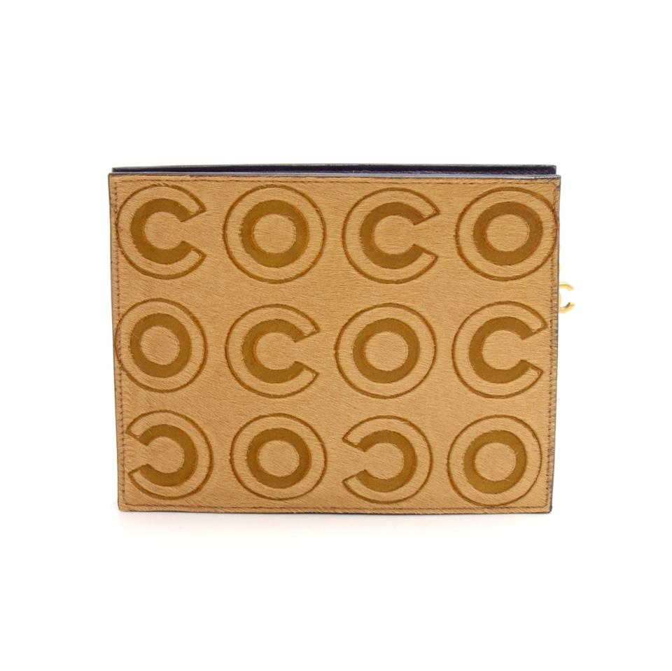 e7d9e537852a Chanel Hair Coco Logo Pouch Rare Limited Ed. Beige Pony Fur Clutch ...