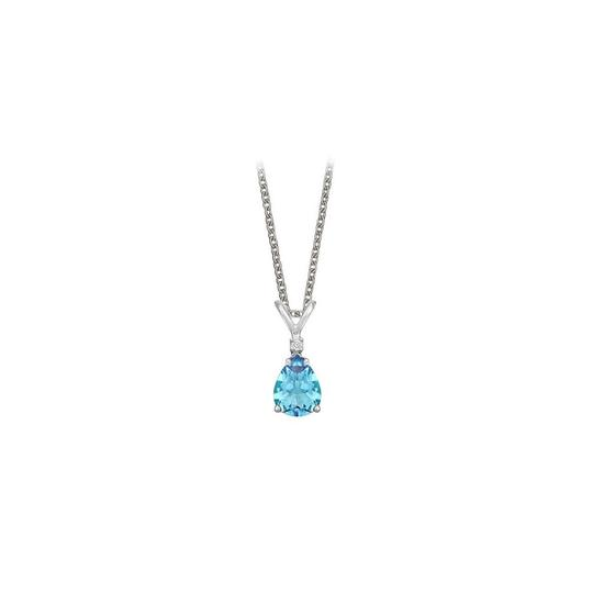 Preload https://img-static.tradesy.com/item/23707890/blue-pear-cut-created-topaz-and-cubic-zirconia-pendant-necklace-0-0-540-540.jpg
