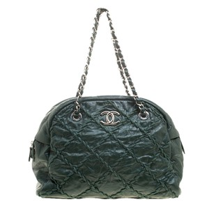 Chanel Quilted Leather Satchel in Green