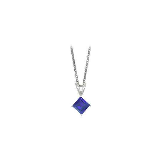Preload https://img-static.tradesy.com/item/23708064/blue-square-cut-created-sapphire-pendant-sterling-silver-1ctt-necklace-0-0-540-540.jpg
