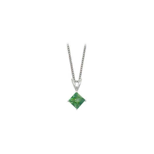 Preload https://img-static.tradesy.com/item/23708094/green-square-cut-created-emerald-pendant-sterling-silver-1cttw-necklace-0-0-540-540.jpg
