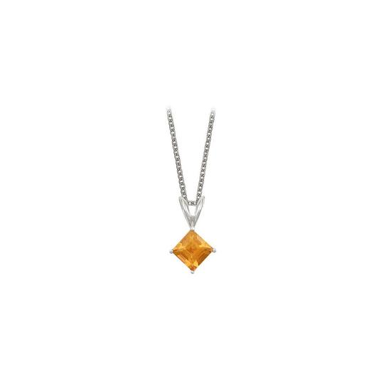 Preload https://img-static.tradesy.com/item/23708110/yellow-square-cut-citrine-pendant-sterling-silver-1cttw-necklace-0-0-540-540.jpg