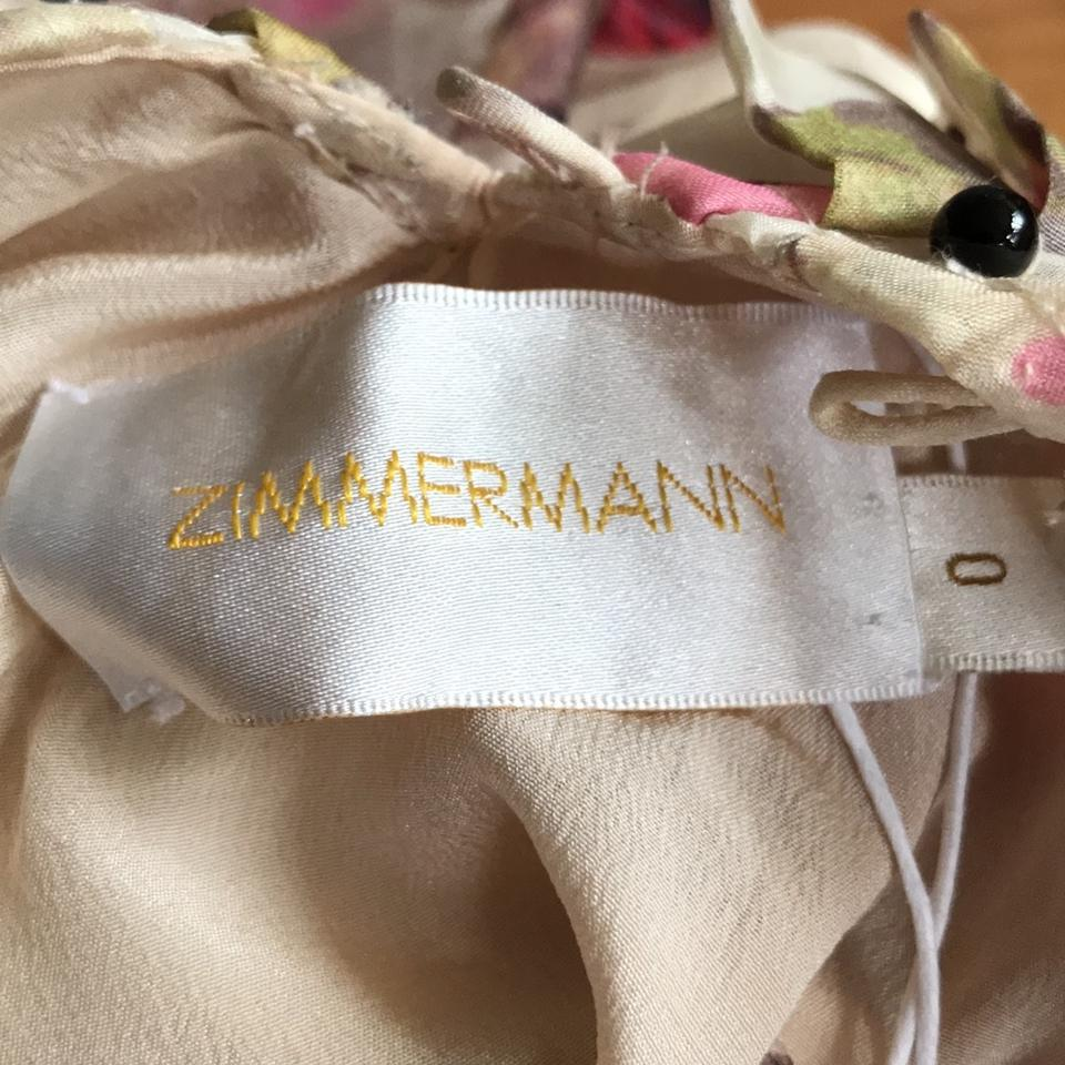 Short ZIMMERMANN Casual Dress Organza Nwot qzxBxAX