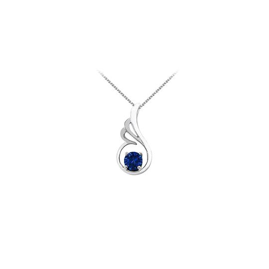 Preload https://img-static.tradesy.com/item/23708122/blue-september-birthstone-sapphire-pendant-in-925-sterling-silver-with-free-necklace-0-0-540-540.jpg