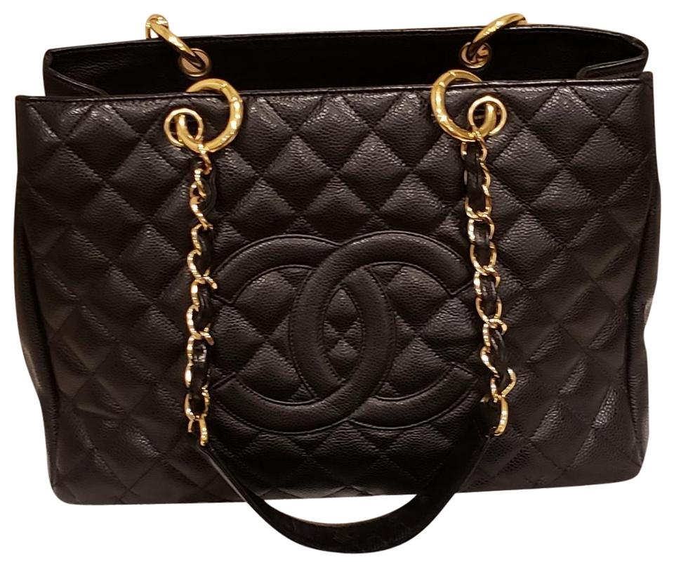a3be6cb903c1 Chanel Very Good Condition Quilted Caviar Grand Shopping Leather ...