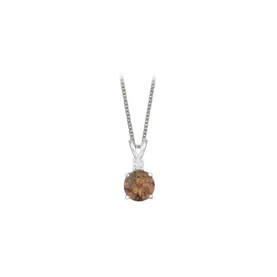 Preload https://img-static.tradesy.com/item/23708140/brown-round-cut-smoky-quartz-and-cubic-zirconia-pendant-sterling-necklace-0-0-540-540.jpg