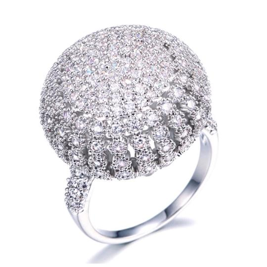 Preload https://img-static.tradesy.com/item/23708198/silver-swarovski-crystals-pave-dome-s11-ring-0-0-540-540.jpg