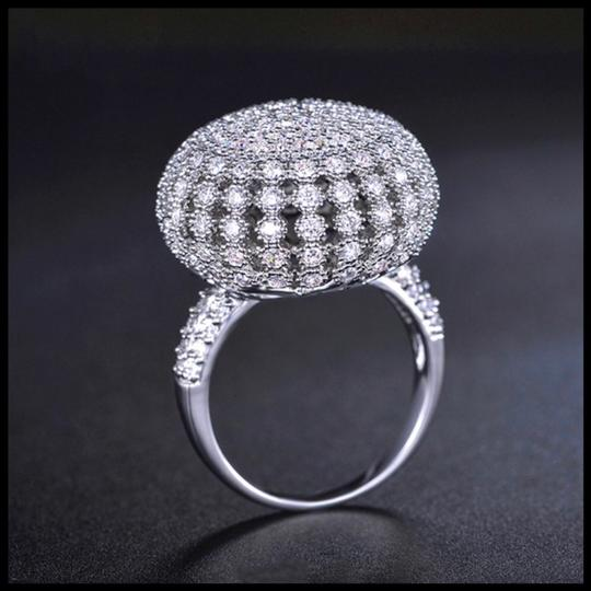 ME-Boutiques Private Label Collection Swarovski Crystals Silver Pave Dome Ring S11 Image 1