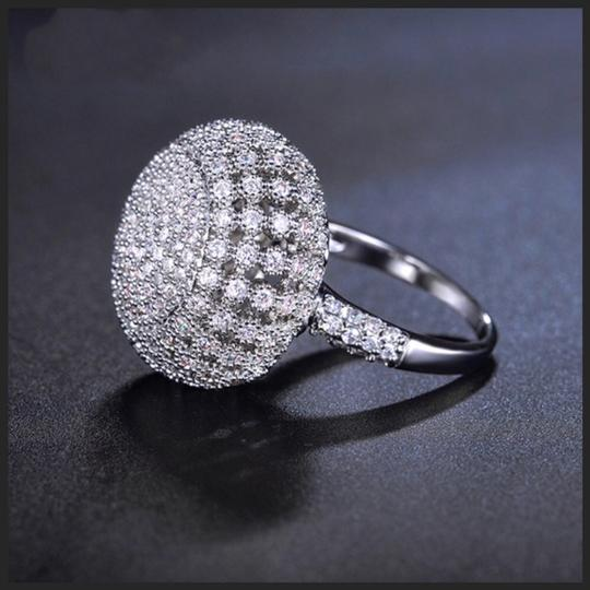 ME-Boutiques Private Label Collection Swarovski Crystals Silver Pave Dome Ring S11 Image 2