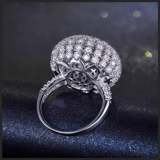 ME-Boutiques Private Label Collection Swarovski Crystals Silver Pave Dome Ring S11 Image 3