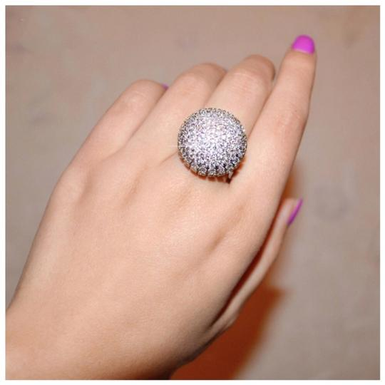 ME-Boutiques Private Label Collection Swarovski Crystals Silver Pave Dome Ring S11 Image 5