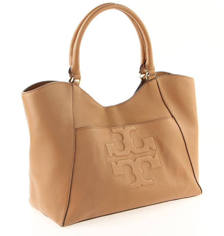 Tote Tory Bombe W Brown E Burch Leather RRrnHY1