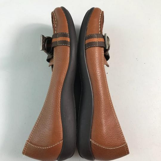 Tommy Hilfiger Leather Brown Flats Image 2