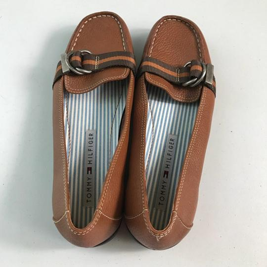 Tommy Hilfiger Leather Brown Flats Image 3