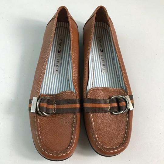 Tommy Hilfiger Leather Brown Flats Image 4