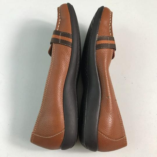 Tommy Hilfiger Leather Brown Flats Image 5