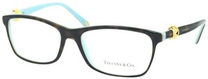 Tiffany & Co. Square Rectangle Tortoise and Gold Rx TF 2104 Eyeglasses Frame