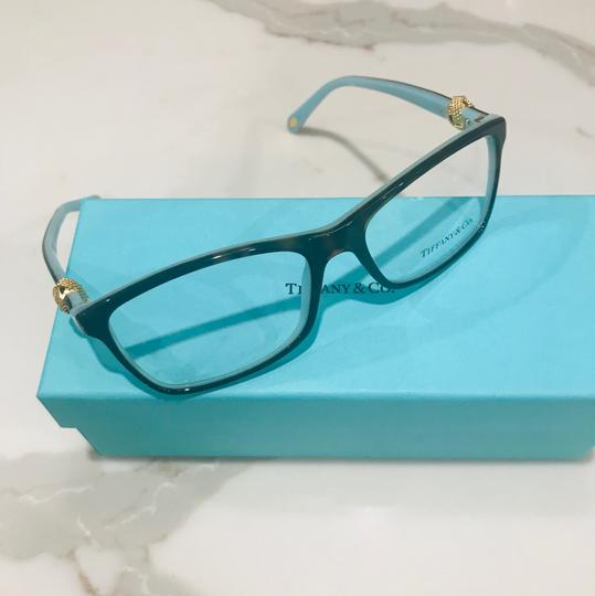 Tiffany & Co. Square Rectangle Tortoise and Gold Rx TF 2104 Eyeglasses Frame Image 10