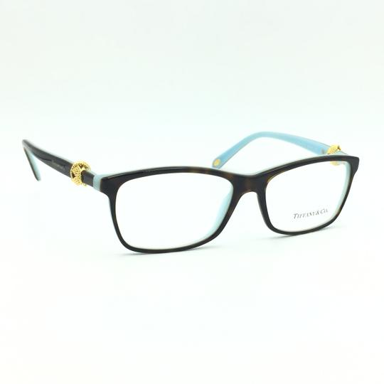 Tiffany & Co. Square Rectangle Tortoise and Gold Rx TF 2104 Eyeglasses Frame Image 2