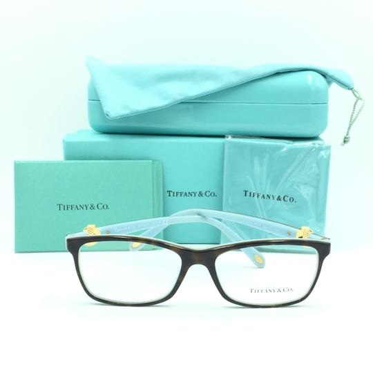 Tiffany & Co. Square Rectangle Tortoise and Gold Rx TF 2104 Eyeglasses Frame Image 3