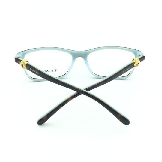 Tiffany & Co. Square Rectangle Tortoise and Gold Rx TF 2104 Eyeglasses Frame Image 4