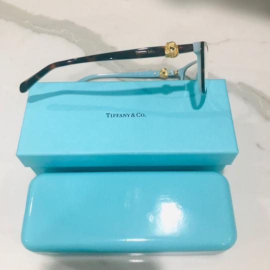 Tiffany & Co. Square Rectangle Tortoise and Gold Rx TF 2104 Eyeglasses Frame Image 7