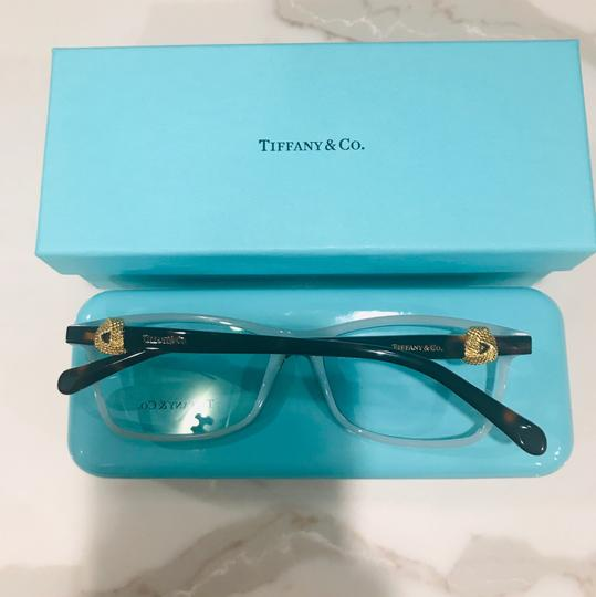Tiffany & Co. Square Rectangle Tortoise and Gold Rx TF 2104 Eyeglasses Frame Image 8