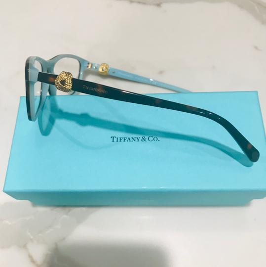 Tiffany & Co. Square Rectangle Tortoise and Gold Rx TF 2104 Eyeglasses Frame Image 9