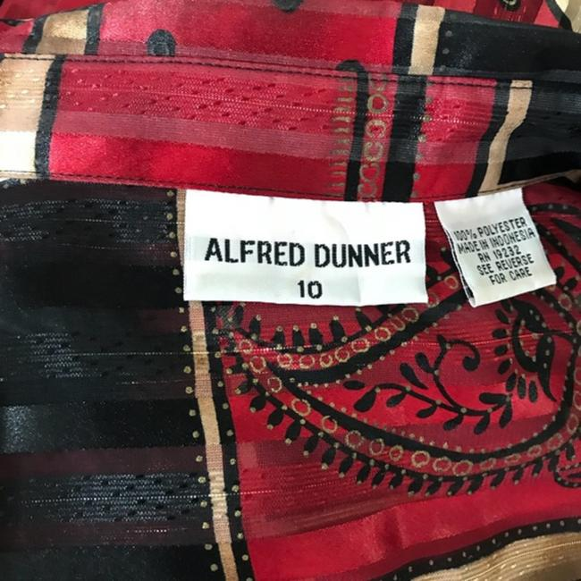 Alfred Dunner Button Down Shirt Black/Red Image 5