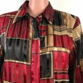Alfred Dunner Button Down Shirt Black/Red Image 6