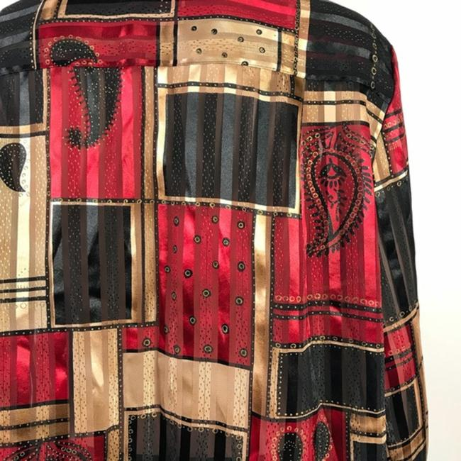 Alfred Dunner Button Down Shirt Black/Red Image 7