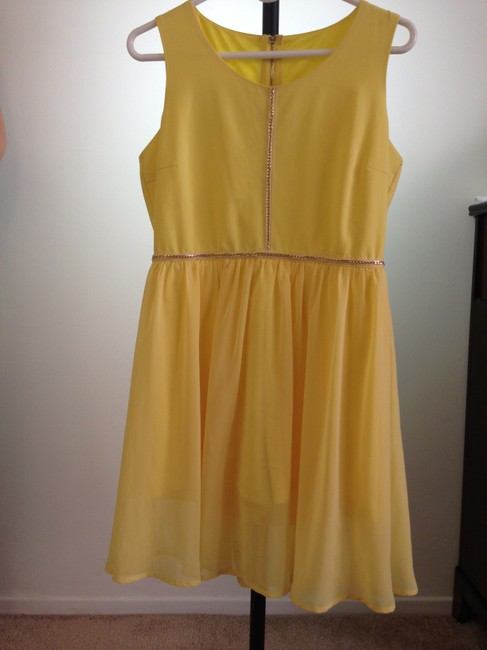 Unbranded short dress Yellow on Tradesy Image 1
