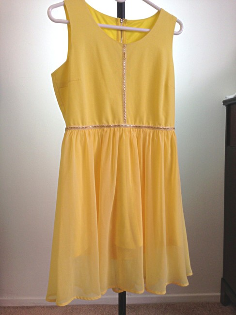 Unbranded short dress Yellow on Tradesy Image 4