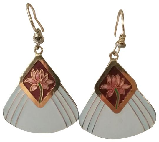 Preload https://img-static.tradesy.com/item/23708621/laurel-burch-off-white-and-burgundy-pink-lotus-earrings-0-1-540-540.jpg