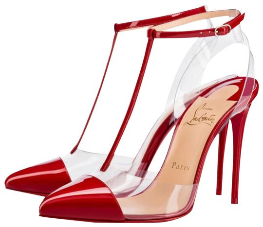 Preload https://img-static.tradesy.com/item/23708636/christian-louboutin-red-nosy-flamenco-patent-pvc-stiletto-pumps-size-eu-385-approx-us-85-regular-m-b-0-1-540-540.jpg