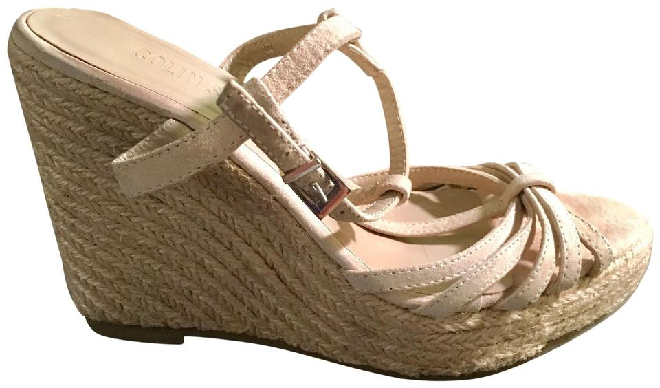 f35e70426e1e67 Colin Stuart Beige Sandals Wedges Size US 6 Regular (M