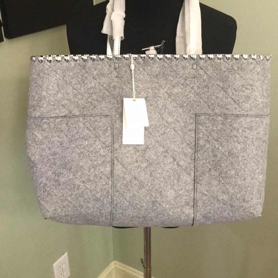 Tory Gray Burch Dustbag Block Felt T Tote with New T Silver rr0Cdq