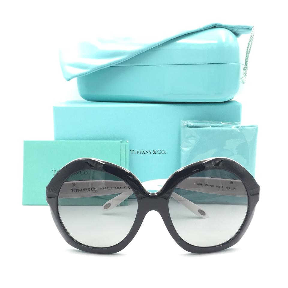 6283de3d11e8 Tiffany   Co. Black White Round Butterfly 4116 8001 3c Sunglasses ...