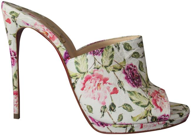 Item - Latte / Multi New Pigamule 120 Watersnake Floral Mules/Slides Size EU 37.5 (Approx. US 7.5) Regular (M, B)
