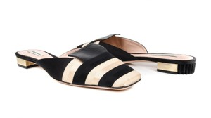 Giorgio Armani Stripes Gold 40 Multi Mules