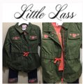 Little lass Little Girls Olive Green 3PCS Floral Outfit Image 6