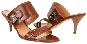 Hermès Silver Hardware 41 Brown Mules