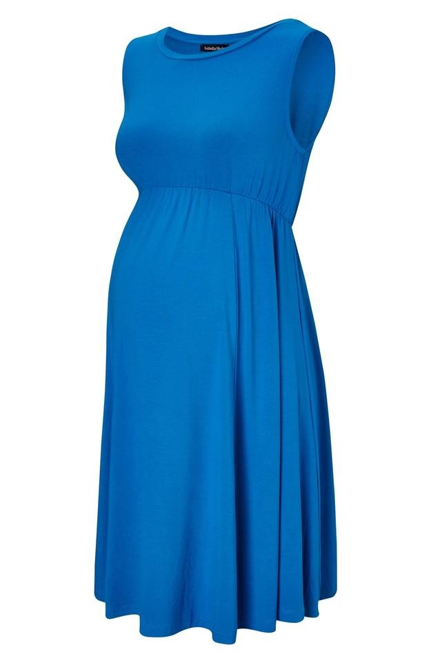 bb3647189c2f3 Isabella Oliver Peacock Blue Hilrose Maternity Dress. Size: 4 (S) ...