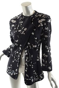 Giorgio Armani Embroidered Black Silver Blazer
