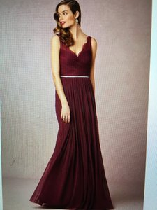 BHLDN Black Cherry Nylon Tulle Lace; Polyester Lining Fleur Formal Bridesmaid/Mob Dress Size 16 (XL, Plus 0x)